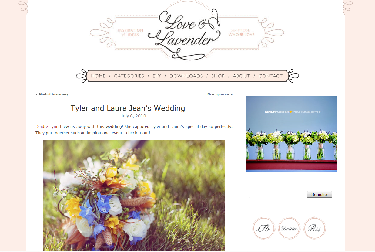 Love and lavender wedding blog